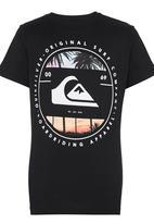 Quiksilver - Printed Tshirt Black