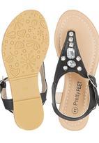 Pretty Feet - Embellished Sandal Black