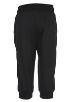 Retro Fire - Track Pants Black
