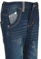 Retro Fire - Denim Jeans Mid Blue