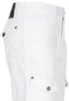 Retro Fire - Cargo Pants White