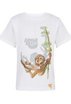 Jungle Beat - Monkey Print T-Shirt White