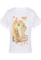 Jungle Beat - Elephant Print T-Shirt White
