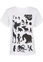 Jungle Beat - Animal Print T-Shirt White