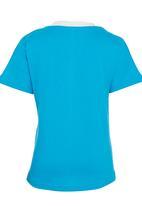 Jungle Beat - Penguin Print  T-Shirt Mid Blue
