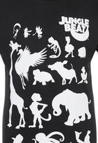 Jungle Beat - Animal Print T-Shirt Black