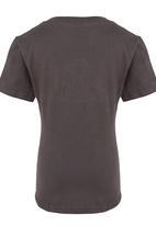 Jungle Beat - Animal Print T-Shirt Dark Grey