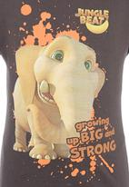Jungle Beat - Elephant Print T-Shirt Dark Grey