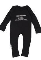 Sticky Hands - Sleepsuit Black