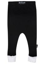 Sticky Hands - Contrast Cuffed Pants Black