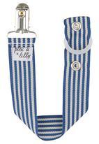 Pickalilly - Blue stripe dummy clip Dark Blue