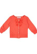 POP CANDY - Cardigan With Frill Red