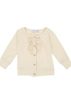POP CANDY - Cardigan With Frill Beige