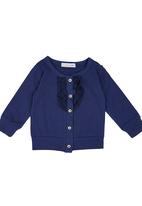 POP CANDY - Cardigan With Frill Navy