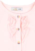 POP CANDY - Cardigan With Frill Pale Pink