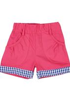 POP CANDY - Shorts With Contrast Turn-ups Mid Pink