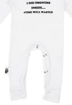 Sticky Hands - Sleepsuit White