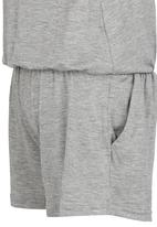 See-Saw - Jersey Playsuit with Lace Detail Grey