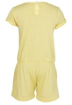 See-Saw - Jersey Playsuit with Lace Detail Yellow
