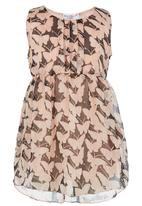 POP CANDY - Butterfly Print Dress Pale Pink
