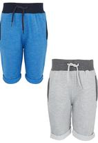 POP CANDY - Jersey Shorts 2pk Blue and Grey