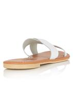 edit - Leather Cross- over Sandals White
