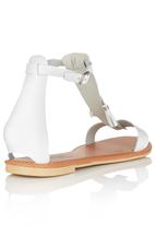 edit - Leather Sandals with Tassel White