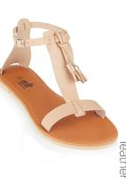 edit - Leather Sandals with Tassel Neutral
