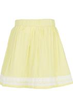 See-Saw - Lace Border Skirt Yellow