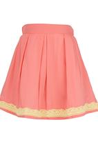 See-Saw - Lace Border Skirt Coral