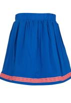 See-Saw - Lace Border Skirt Cobalt