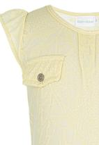 See-Saw - Flutter Sleeve Top Yellow