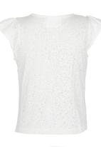 See-Saw - Flutter Sleeve Top White