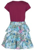 See-Saw - Tiered Skirt Dress Mid Purple