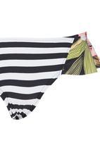 Billabong  - Stripe & Floral Bikini Black and White