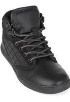 SOVIET - Hi Top PU Sneaker Black