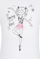 See-Saw - Dancing With The Stars Printed Tee White