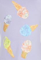 See-Saw - Ice-cream Printed Tee Pale Purple