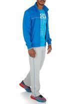 Erke - Erke Full Zip Sweatshirt Mid Blue