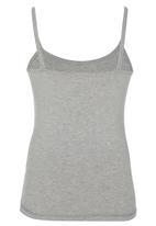 Rebel Republic - Printed Vest Grey Melange
