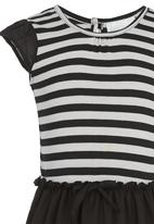 See-Saw - Combination Fabric Dress Black and White
