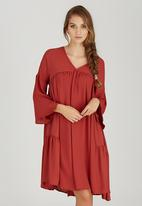 STYLE REPUBLIC - Boho Dress Dark Red