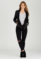 STYLE REPUBLIC - Waterfall Leather-look Jacket Black