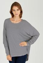edit - Oversized Tunic Navy