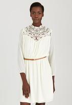 STYLE REPUBLIC - Peasant Midi Dress Cream