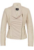 STYLE REPUBLIC - Waterfall Leather-look Jacket Beige