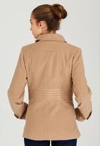 c(inch) - Saddle Stitch Double Breasted Coat Camel