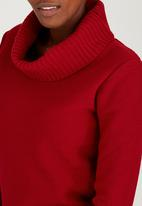 edit - Cowl Neck Jersey Red