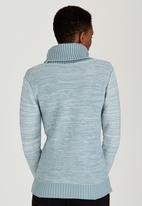 edit - Cowl Neck Jersey Pale Blue