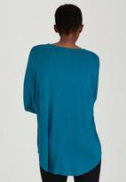 edit - Oversized Tunic Turquoise